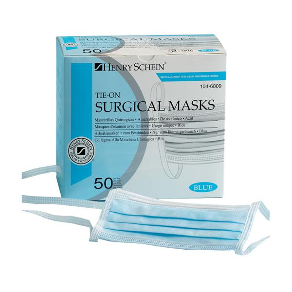bx Blue Schein On Face Mask Tie Dental Henry - 50