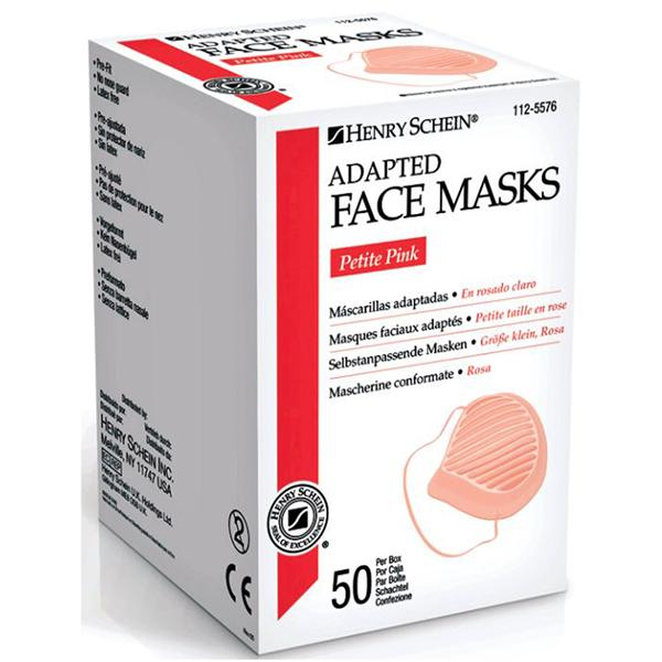 disposable pink face mask