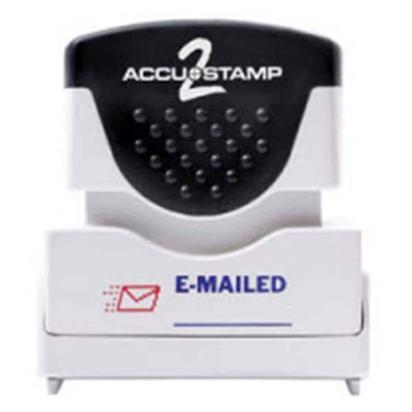 ACCU STAMP2 2 Color Stamp Microban Protection Emailed Red Blue 1155735