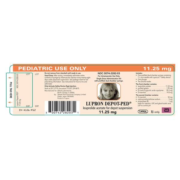 Lupron Depot 3 Month Kit IM Inj Prefilled Syringe 1125mg Ped Ea 1187596