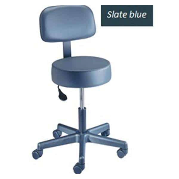 Value Plus Stool Exam Slate/Yacht Blue Casters Backless 5