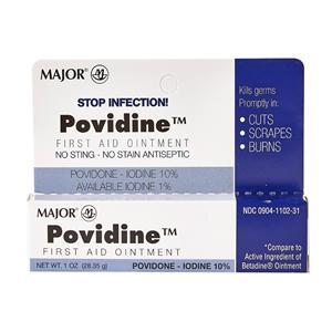 Povidone Antiseptic Povidone Iodine 10% Topical Ointment 1oz Ea