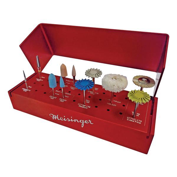 Meisinger Zirconia Adjusting & Polishing Kit HP For CAD/CAM Ea