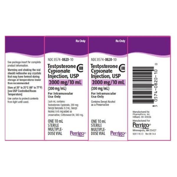 Testosterone Cypionate Injection MDV 200mg/mL 10mL/Vl