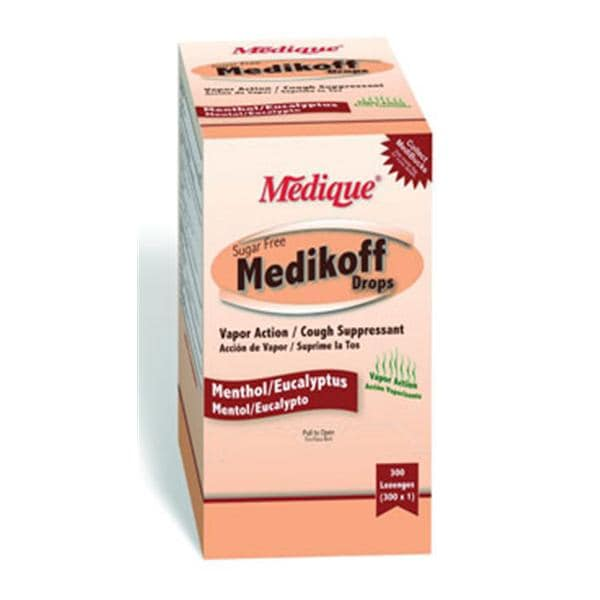 medikoff cough drops sugar free 5 8mg menthol 300 bx