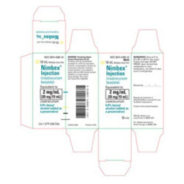 Nimbex Injection MDV 2mg/mL 10mL Sterile 10/Bx