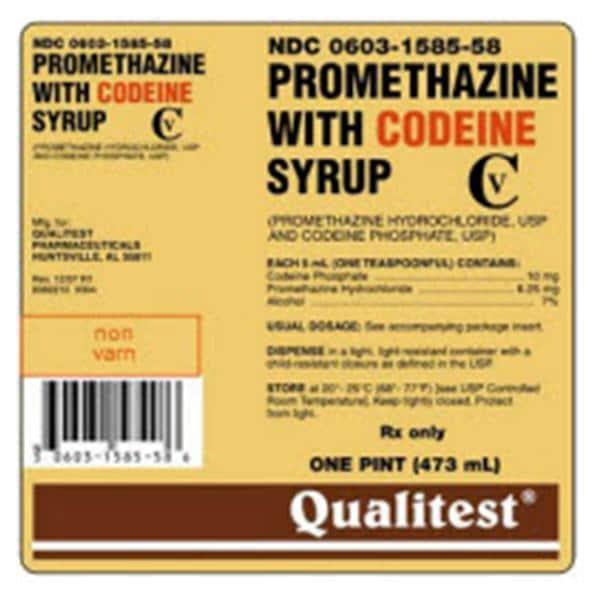 Promethazine Codeine Syrup 6 25mg 10mg 5ml Bottle 480ml Henry