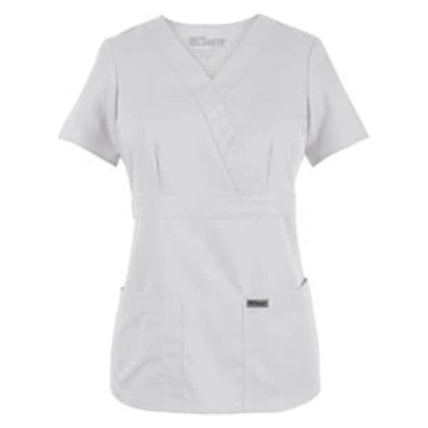 Greys Anatomy Scrub Shirt 4153 Crossover Womens Medium White Ea