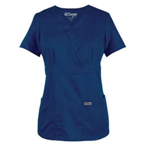 Greys Anatomy Scrub Shirt 4153 Crossover Womens Large Indigo Ea