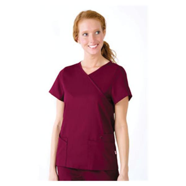 2942b715a57 ... Urbane Scrub Shirt 9577 Sophie Crossover Womens X-Large Wine Ea