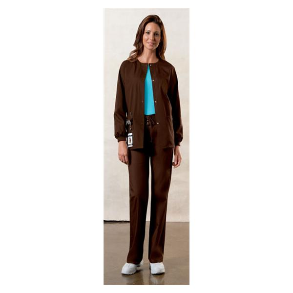 99849c26011 Warm-Up Jacket 4350 Womens Large Chocolate Ea 3374507 | Cherokee Workwear -  4350-CHCW-L