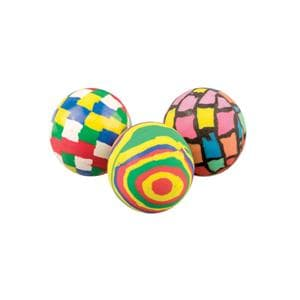 Toy High-Bounce Balls Funky Pattern Assorted Colors 32 mm 36/Pk