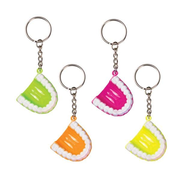 Toy Keychains Teeth Assorted Neon 24/Pk