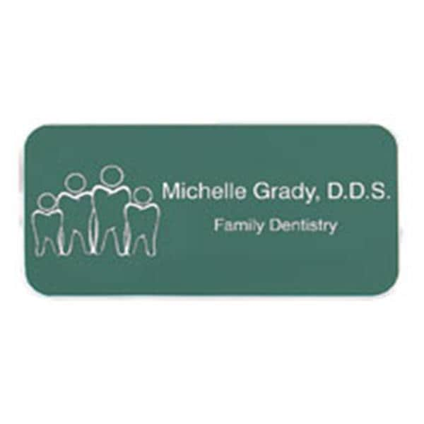 Engraved Name Badge Plastic 1 5 In X 3 With Logo Ea