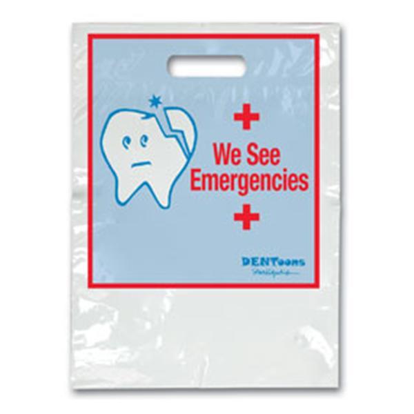 2 Color Bags Dentoon Emergency White Small 7.5 In X 9 In 100/Pk 3666885 | Office  Supplies U0026 Practice Mkt U2014 SBG114
