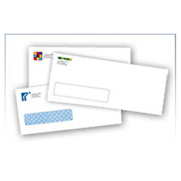 Business Envelopes #10 Gummed Flap 9 1/2 in x 4 1/8 in White With Logo 500/Box