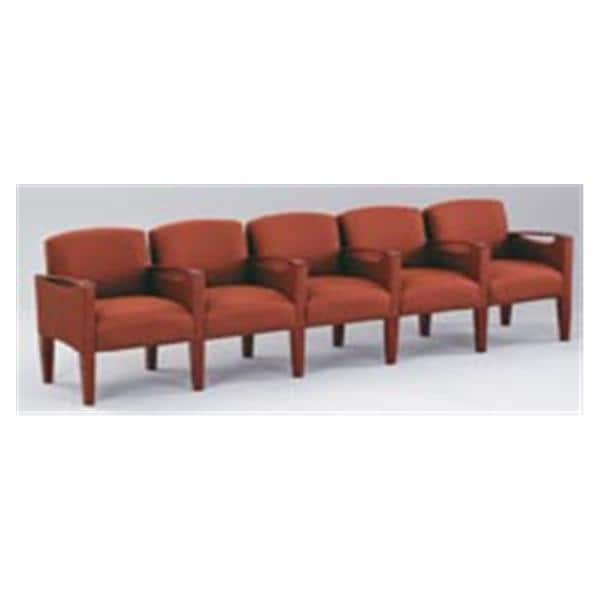 Brewster 5-Seat Sofa With Center Arms Deluxe Vinyl / Fabric Ea