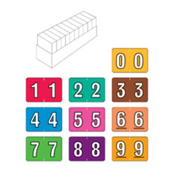Superieur Colwell Jewel Tone Numeric Label Set 10Rl/St 10Rl/St 3678913 | Office  Supplies U0026 Practice Mkt   8389SET