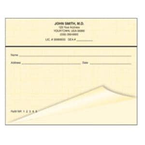 Safety Prescription Pads 2-Part Horizontal Blue With Woven Background 10/Bx