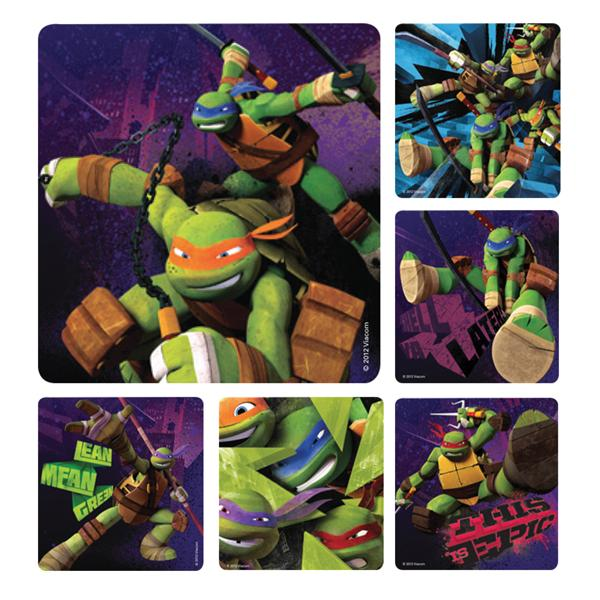 Stickers Teenage Mutant Ninja Turtles Assorted 100/Rl