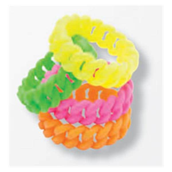 Chainlink Bracelets Silicone 24 Pk