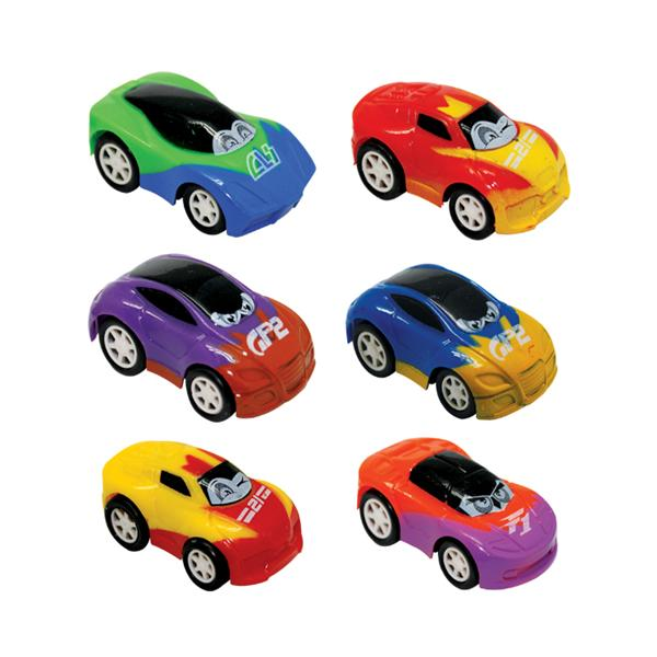 Toy Pull Back Cars Crazy Eye Assorted Colors Plastic 36/Pk