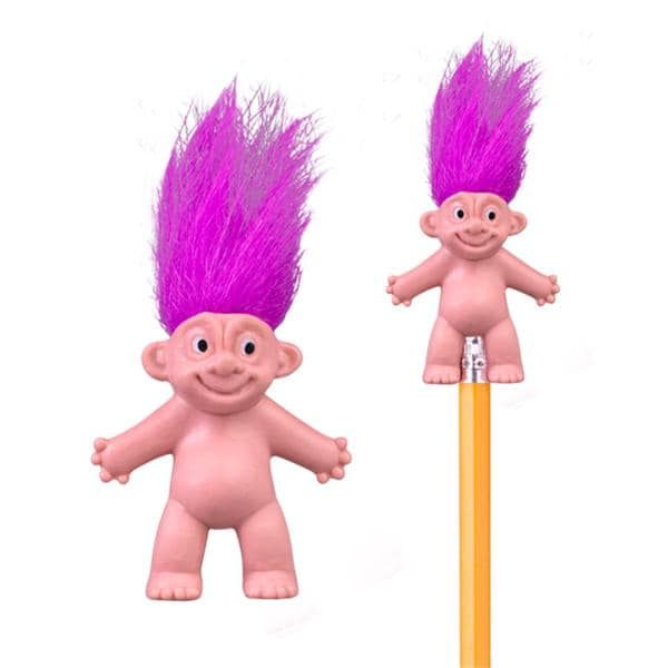 Toy Pencil Topper Troll Doll Assorted Colors 72/Pk