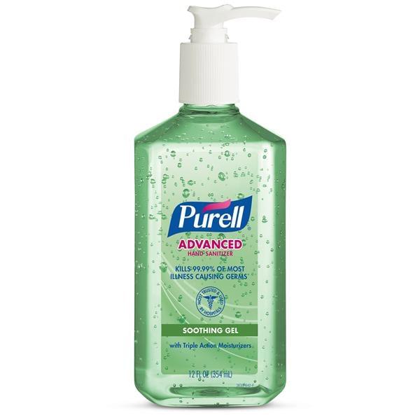 Purell Advanced Aloe Antibacterial Gel Hand Sanitizer 12 oz 1/Bt