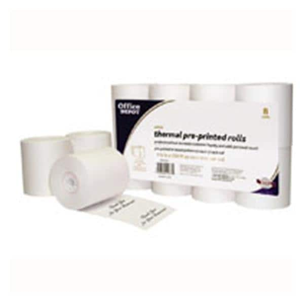 Thermal Preprinted Paper Rolls 3 1/8 in x 230 ft White 8/Pk
