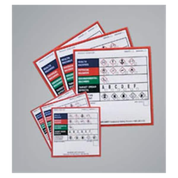 Label GHS Chemical 100/Pk
