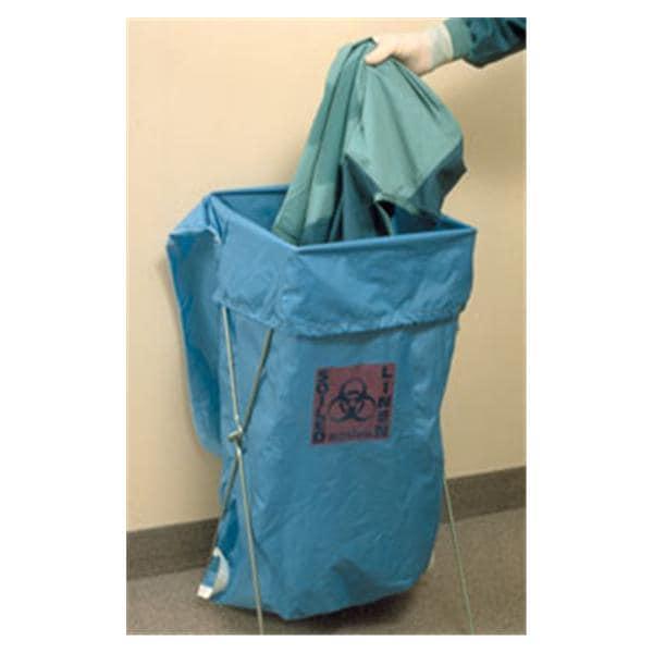 Bag Laundrylinen Biohazard Symbol Blue Ea