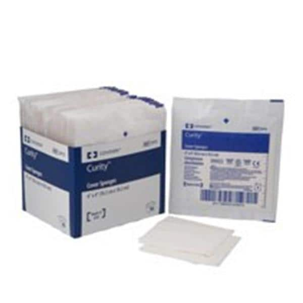 Curity Sponge Cover Cellulose Fiber 4x4