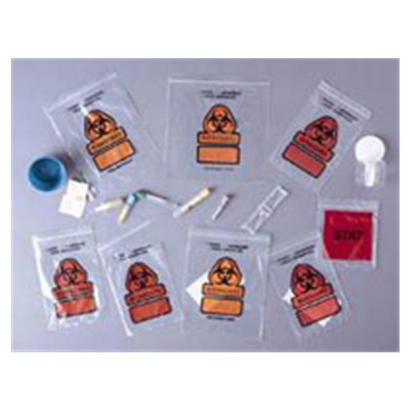 Specimen Transport Bag Clr Rclsbl Clsr w/ 3-Wl/ Sprt Pch 100