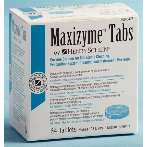Cleaner Tablets MaxiZyme 64/Bx 50 BX/CA