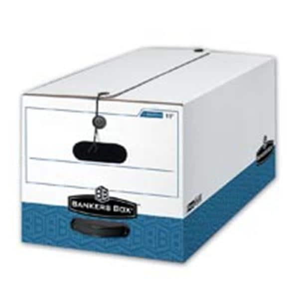 Liberty Storage Box 24 in x 12 in x 10 in Letter White/Blue 12/Bx
