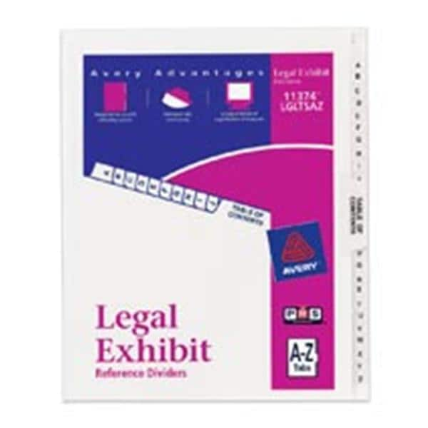 Avery Premium Collated Legal Index Exhibit Dividers A-Z 1/PK