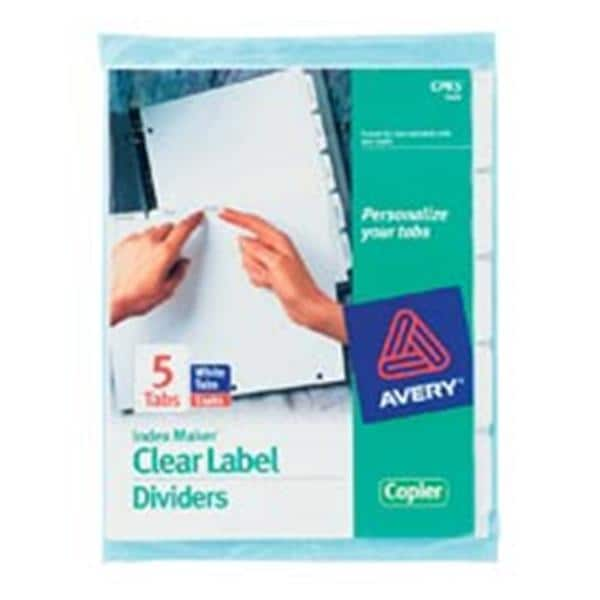 Index Maker Clear Label Dividers Copier 5-Tab 5 Sets/Pack 5/Pk