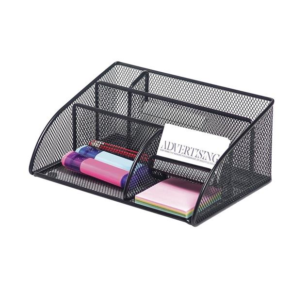 Wondrous Office Depot Brand Metro Mesh Angled Desk Organizer Black Blk Home Interior And Landscaping Sapresignezvosmurscom