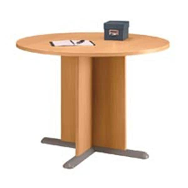 Round Conference Table Light OakGraphite Gray Henry Schein - Office depot conference table