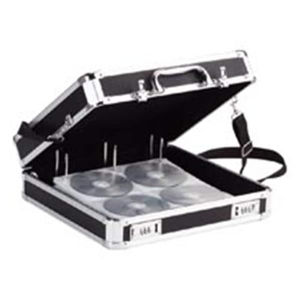 Vaultz Locking CD DVD Binder Case 200 Disc Capacity Black Ea 9044017
