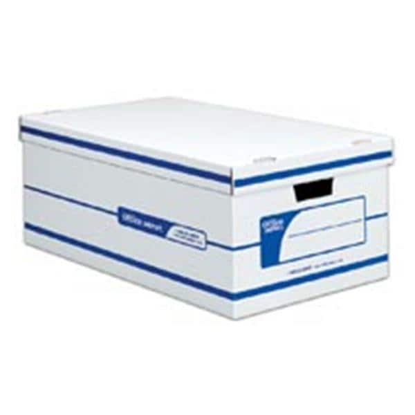 Storage Box Legal 24 in x 15 in x 10 in White/Blue 12/Pack 12/Bx