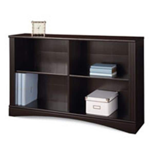Realspace Dawson 2 Shelf Sofa Bookcase Cinnamon Cherry Ea