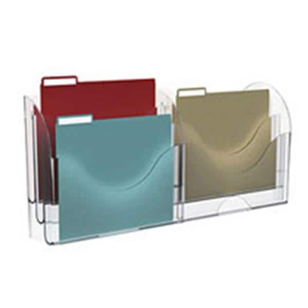 Superb Innovative Storage Designs 6 Pocket File Organizer Clear 9059071 | Advantus    325989
