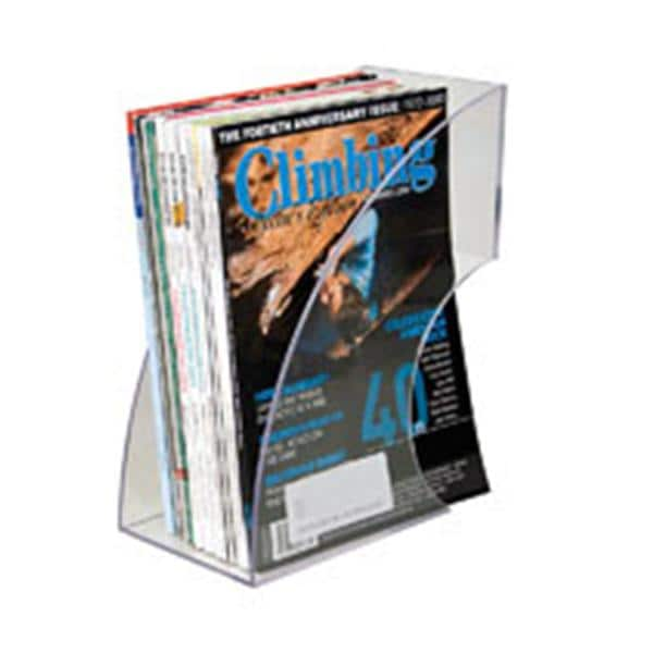 Innovative Storage Designs Deluxe Magazine Rack Clear 9059663 | Advantus    537786