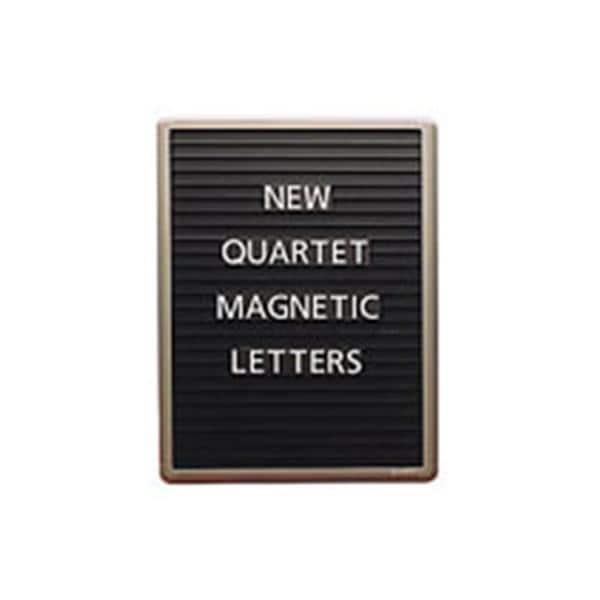 quartet magnetic letter message board 24 x 18 black ea
