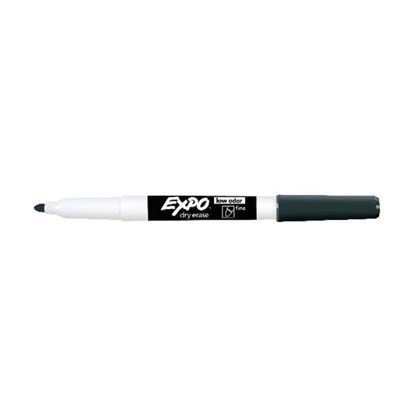 Expo Low Odor Dry Erase Markers Fine Pt Black Pk 4 4 Pk