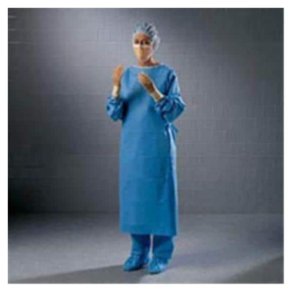 Ultra Gown Surgical XL Blue/Green Neckband Reinforced Strl 28/Ca