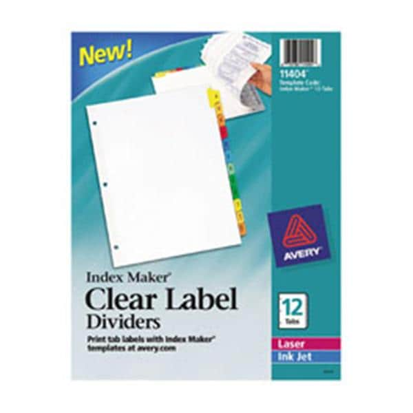 index maker clear label dividers 3 hole punch 5 tab 25 sets pack