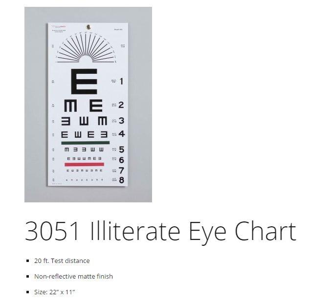Eye Chart 22x11 Ea Henry Schein Medical