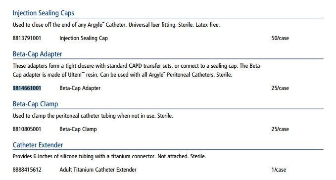 Adaptor Beta-Cap Argyle 25/Cr - Henry Schein Medical